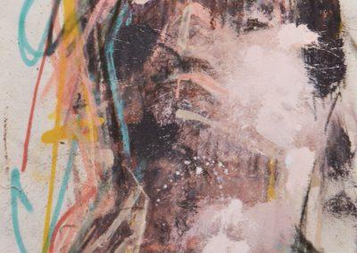 55x45 cm. Mixta sobre lienzo
