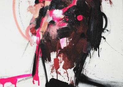 70x50 cm. Acrílico y spray sobre lienzo.