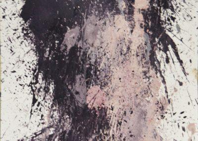 34x70,5 cm (Serie: x3). Acrílico sobre papel