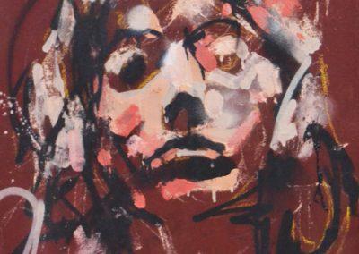 70x50 cm. Acrílico, spray y pastel sobre lienzo.