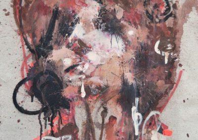 50x46 cm. Acrílico y Spray sobre lienzo