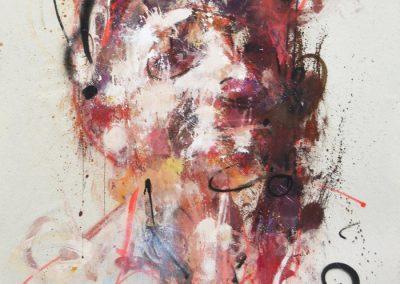 105x90 cm. Acrílico y Spray sobre lienzo.
