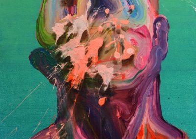 66x47 cm. Acrílico y óleo sobre lienzo. 2021