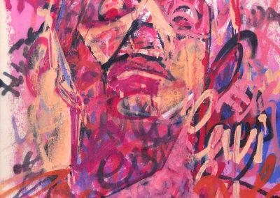 80x50 cm. Acrylic and spray on canvas. 2016