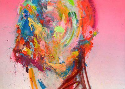100x78 cm. Acrílico y spray sobre lienzo. 2020