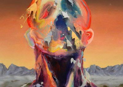 78x64 cm. Acrílico y óleo sobre lienzo. 2021