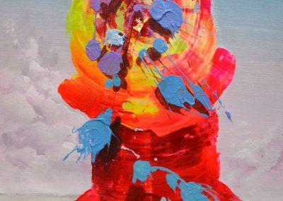 44x38 cm. Acrílico y óleo sobre lienzo. 2020