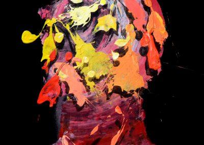 49x45 cm. Acrílico y óleo sobre lienzo. 2020