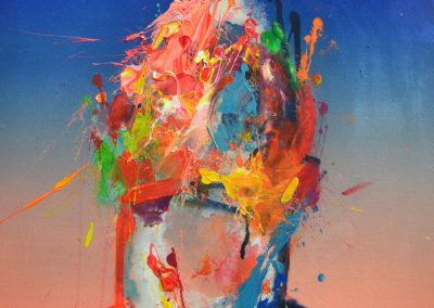 65x65 cm. Acrílico y spray sobre lienzo. 2020