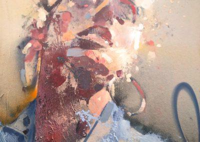93x72 cm. Acrílico y Spray sobre lienzo. 2018